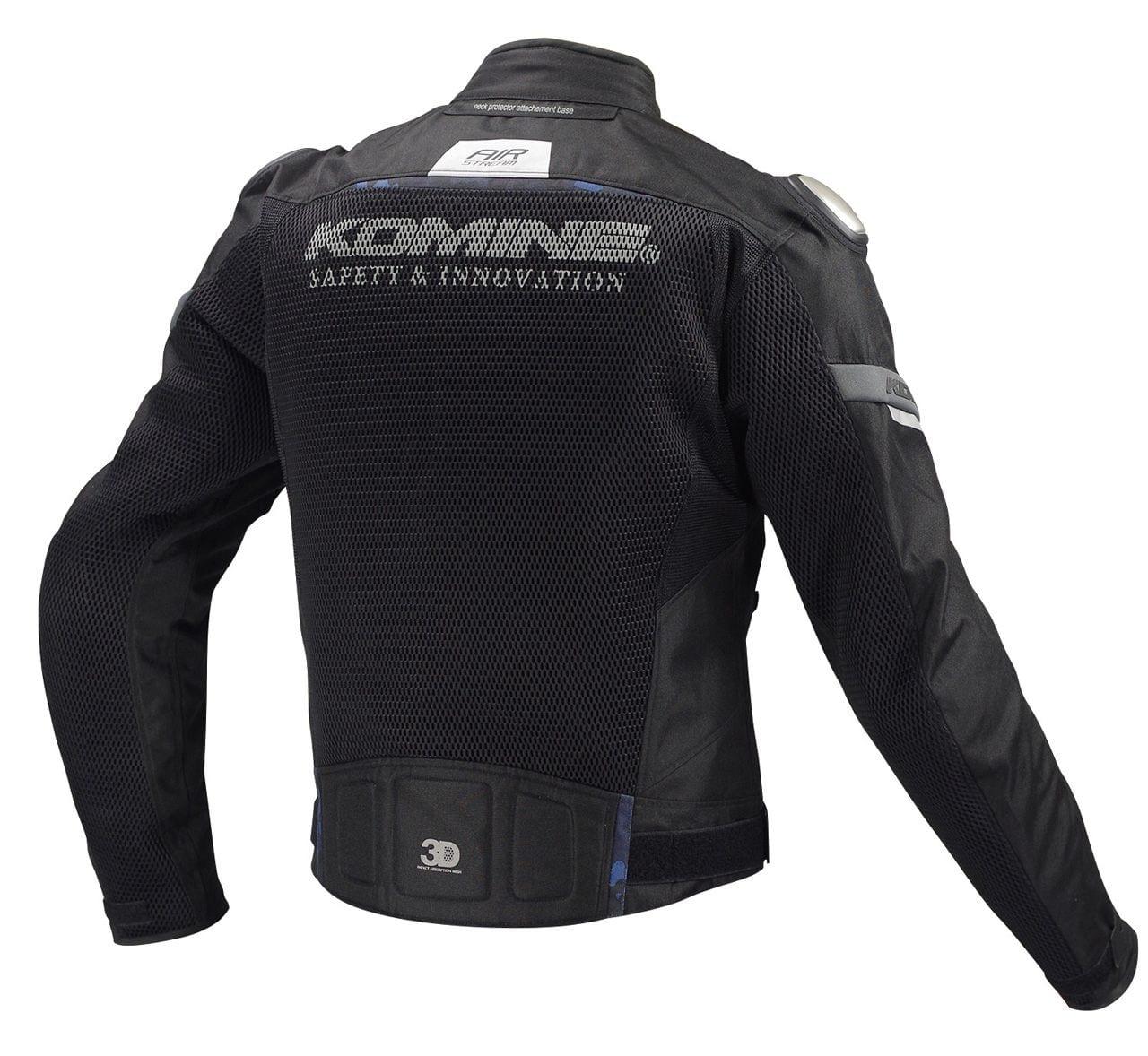 Komine Jk 107 Titanium Mesh Motorcycle Jacket Ce Protectors